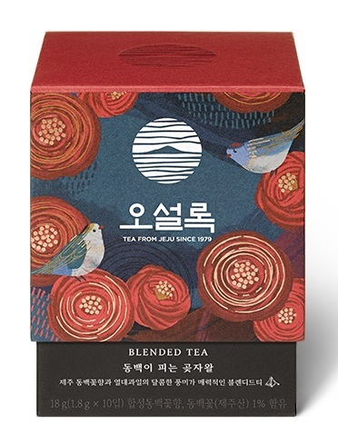 1,8g x 10 Teabag Osulloc Camellia flower blooming forest / 동백이 피는 곶자왈